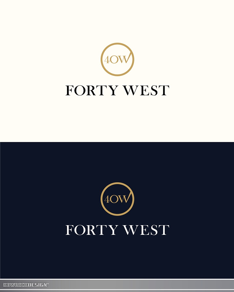 Logo Design by kowreck - Entry No. 194 in the Logo Design Contest Unique Logo Design Wanted for Forty West.