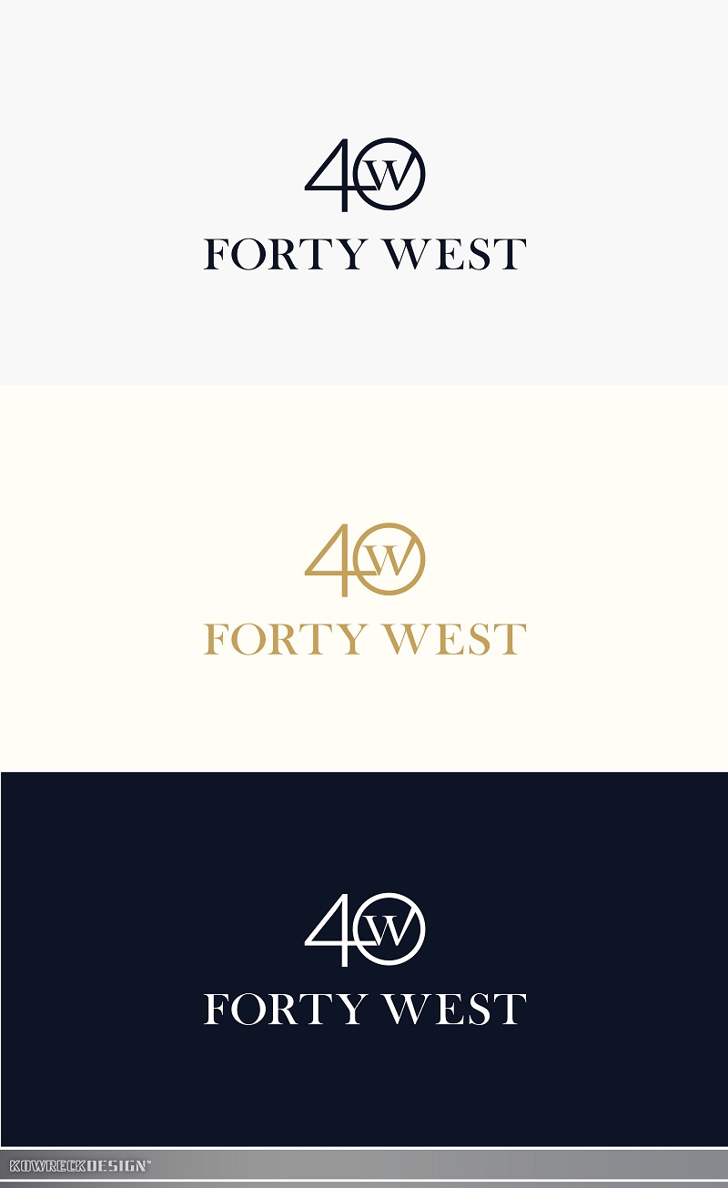 Logo Design by kowreck - Entry No. 195 in the Logo Design Contest Unique Logo Design Wanted for Forty West.