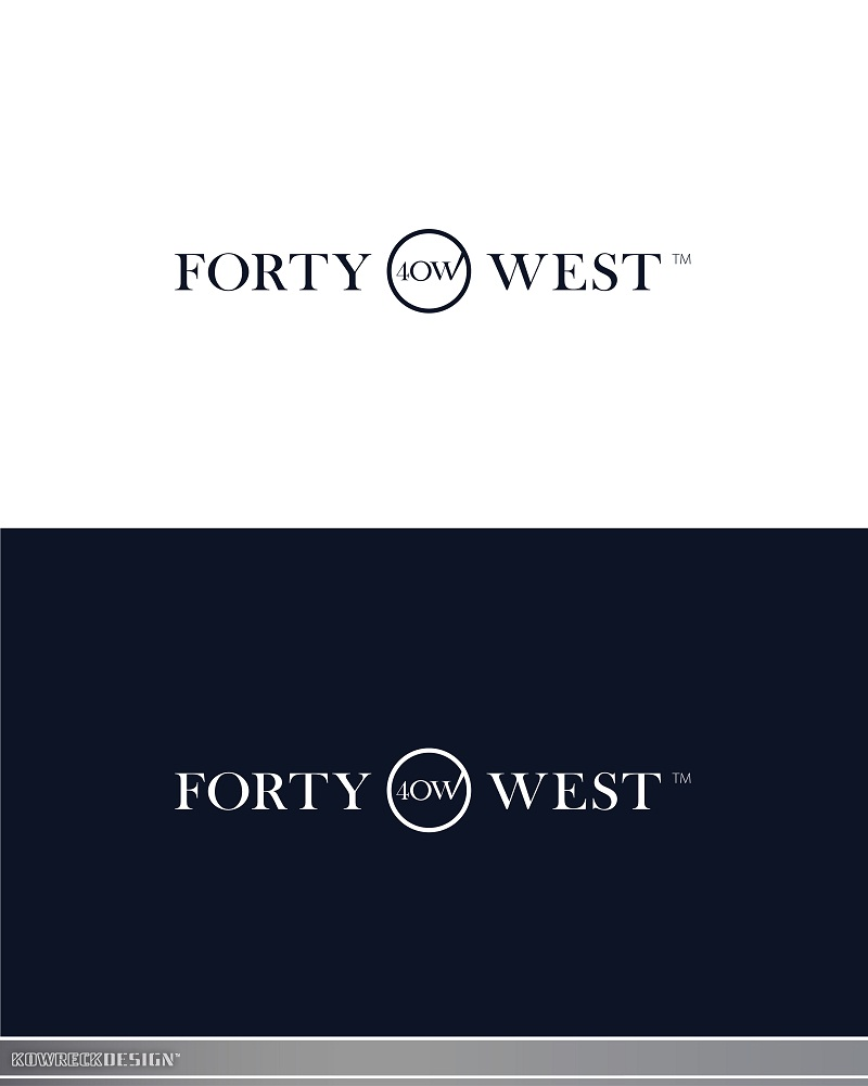 Logo Design by kowreck - Entry No. 197 in the Logo Design Contest Unique Logo Design Wanted for Forty West.