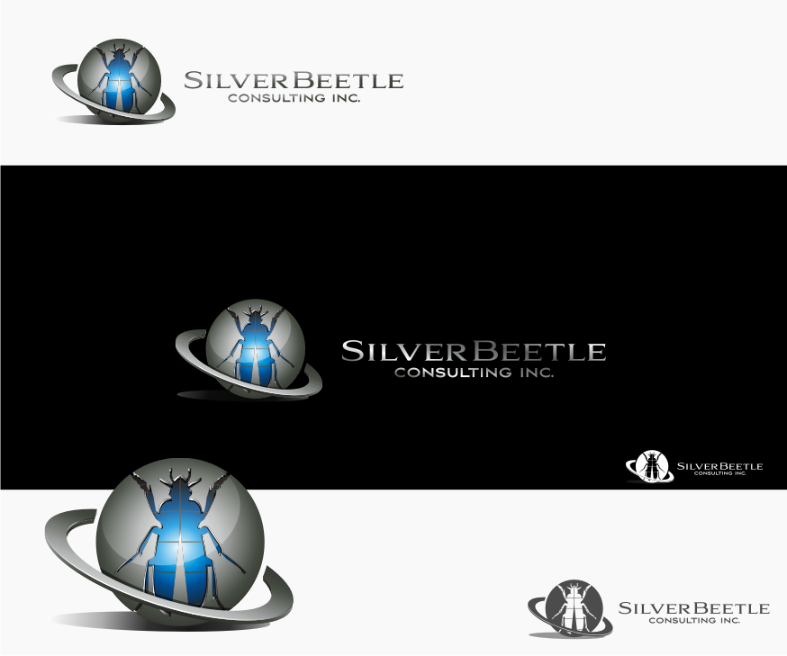 Logo Design by Muhammad Nasrul chasib - Entry No. 61 in the Logo Design Contest Silver Beetle Consulting Inc. Logo Design.