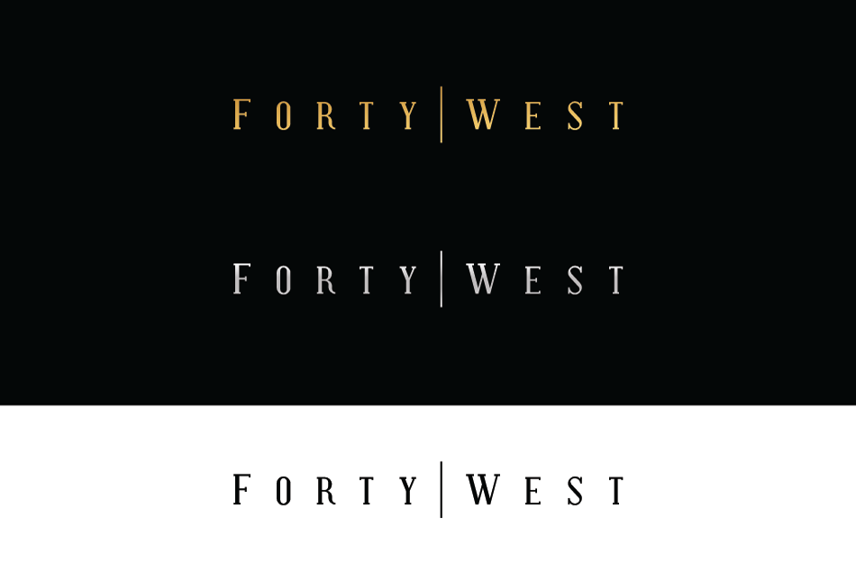 Logo Design by Dipin Bishwakarma - Entry No. 199 in the Logo Design Contest Unique Logo Design Wanted for Forty West.