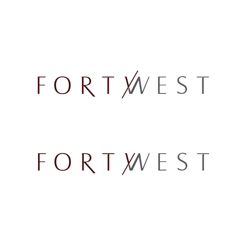 Logo Design by moisesf - Entry No. 203 in the Logo Design Contest Unique Logo Design Wanted for Forty West.
