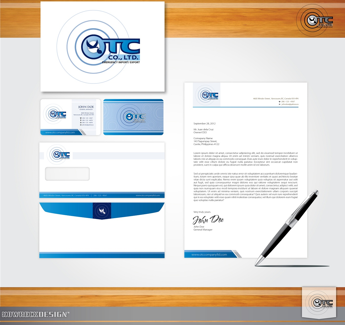 Logo Design by kowreck - Entry No. 44 in the Logo Design Contest Unique Logo Design Wanted for OTC Co.,Ltd..