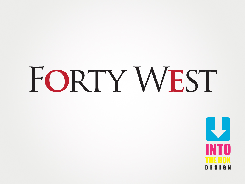 Logo Design by Into The Box Design - Entry No. 250 in the Logo Design Contest Unique Logo Design Wanted for Forty West.