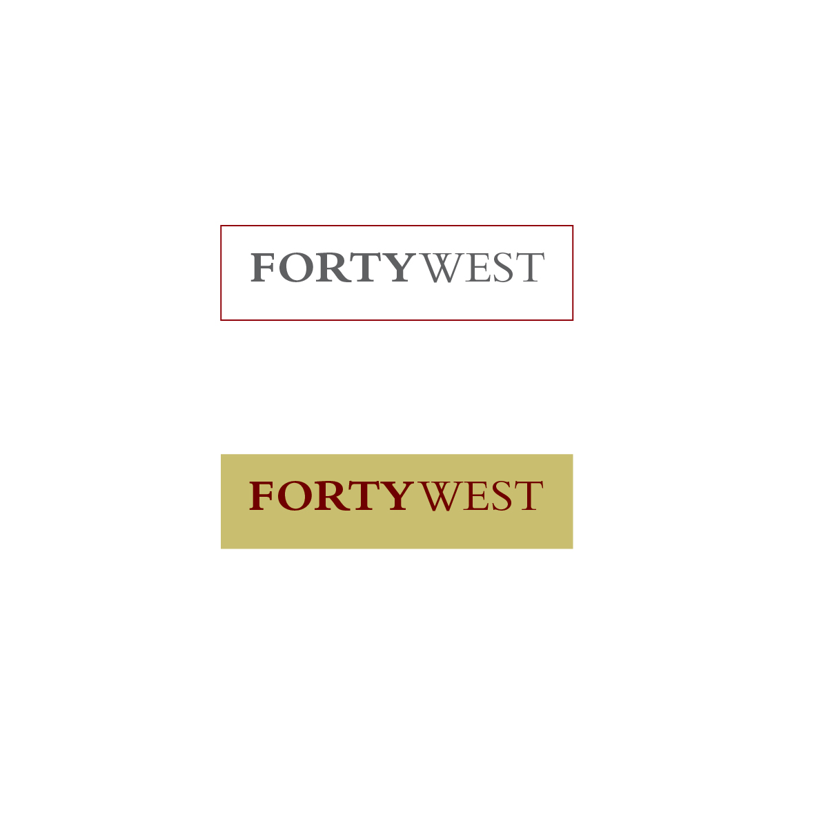 Logo Design by Robert  ARNDT  - Entry No. 253 in the Logo Design Contest Unique Logo Design Wanted for Forty West.