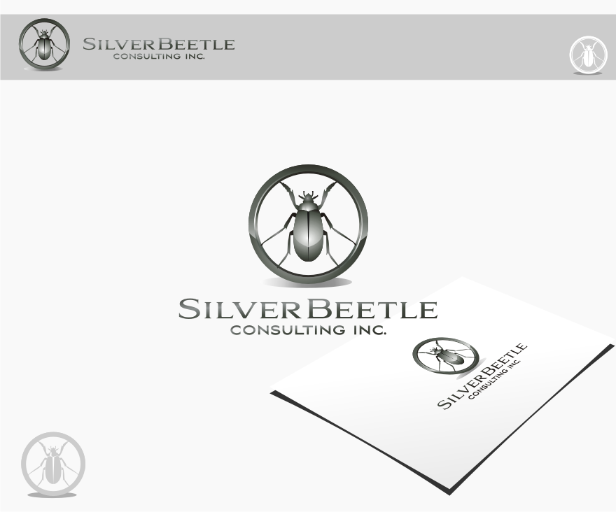 Logo Design by graphicleaf - Entry No. 91 in the Logo Design Contest Silver Beetle Consulting Inc. Logo Design.
