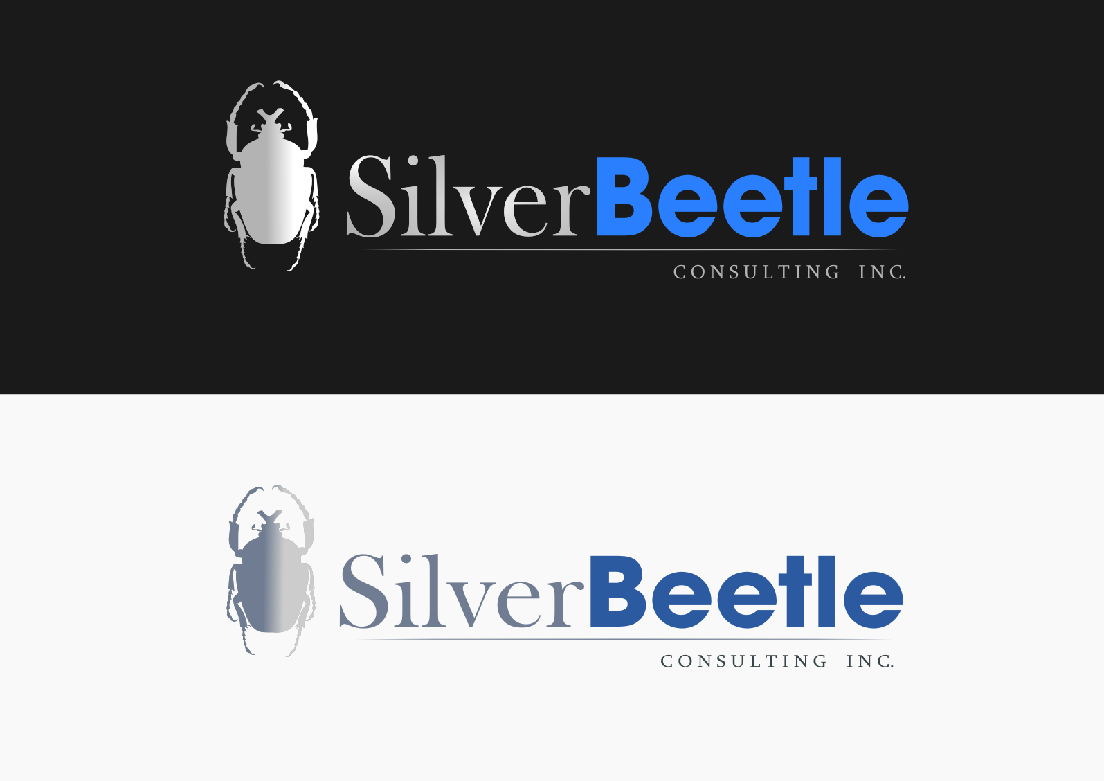 Logo Design by whoosef - Entry No. 95 in the Logo Design Contest Silver Beetle Consulting Inc. Logo Design.