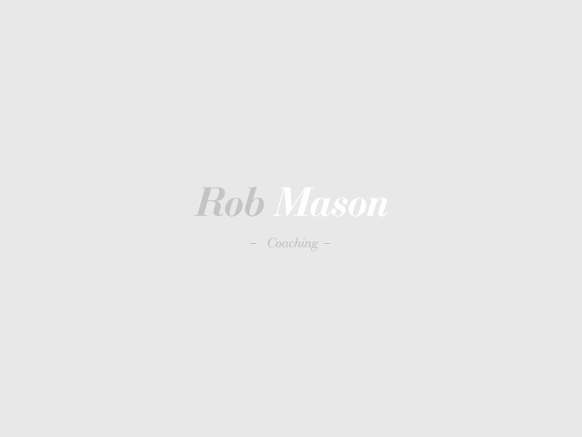 Logo Design by Gabby Menchaca - Entry No. 129 in the Logo Design Contest New Logo Design Needed for Exciting Company Rob Mason Coaching.