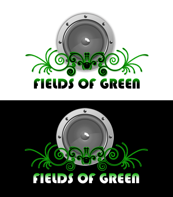 Logo Design by Private User - Entry No. 210 in the Logo Design Contest Psych-Rock Band FIELDS OF GREEN Logo Design.