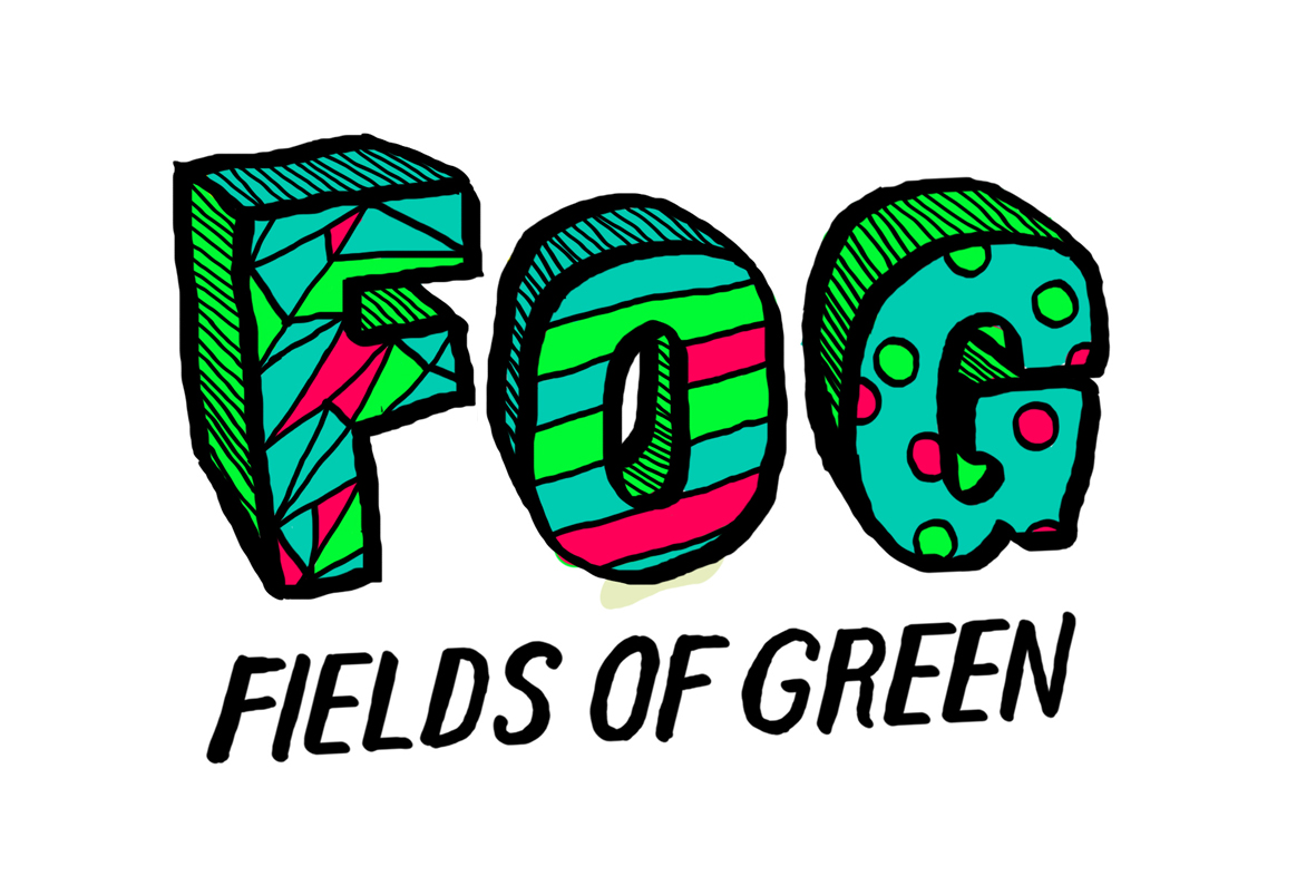 Logo Design by Mathias Frisa - Entry No. 238 in the Logo Design Contest Psych-Rock Band FIELDS OF GREEN Logo Design.
