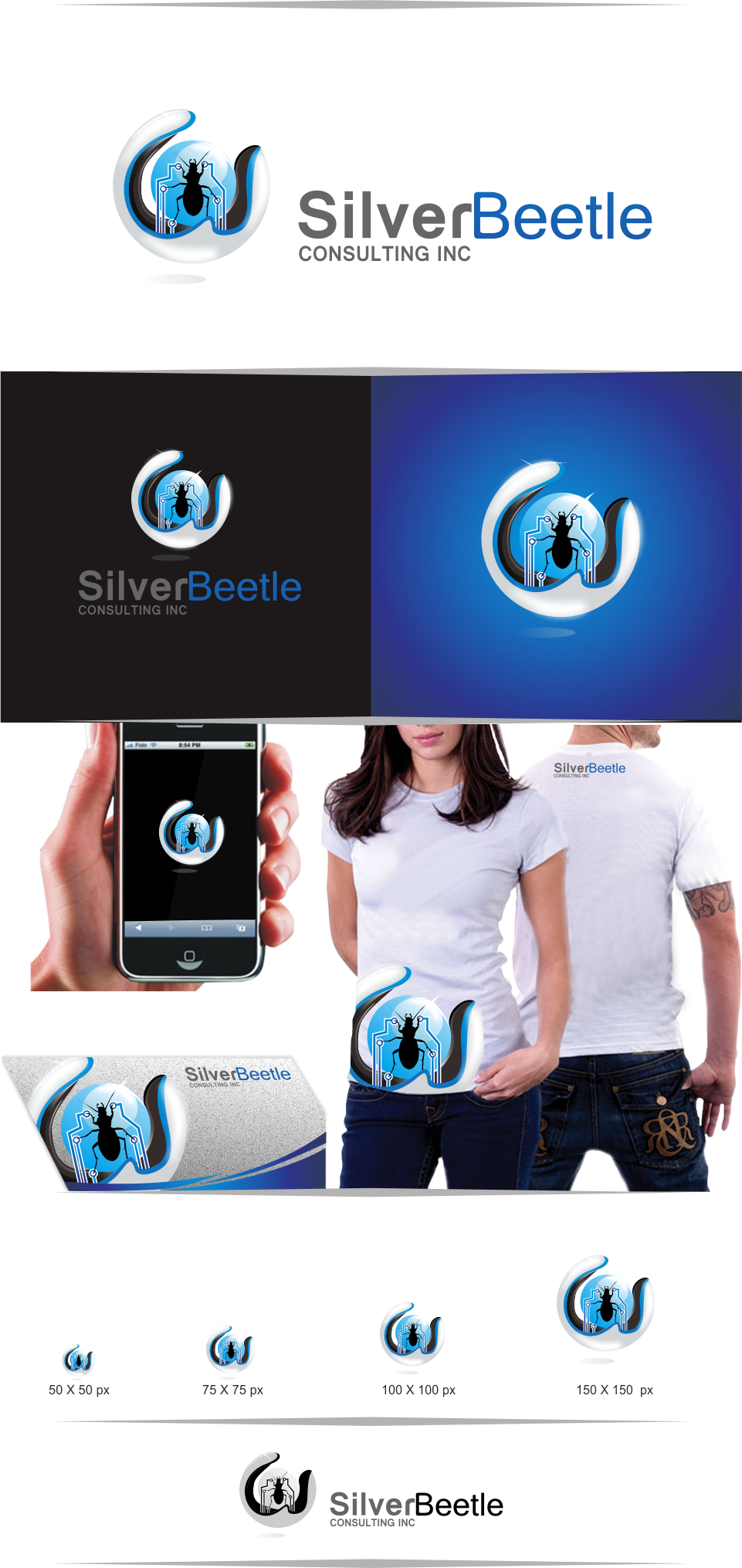 Logo Design by Mitchnick Sunardi - Entry No. 132 in the Logo Design Contest Silver Beetle Consulting Inc. Logo Design.
