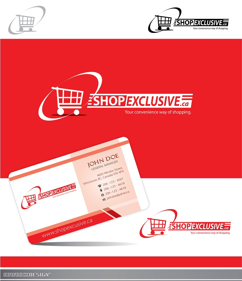 Logo Design by kowreck - Entry No. 33 in the Logo Design Contest Logo Design needed for branding exciting new company:  ShopExclusive.ca.