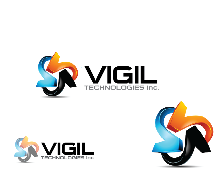 Logo Design by Muhammad Moinjaved - Entry No. 11 in the Logo Design Contest New Logo Design for Vigil Technologies Inc..