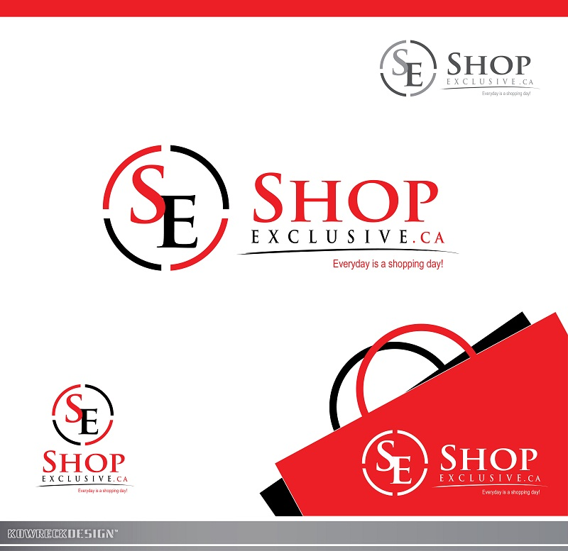 Logo Design by kowreck - Entry No. 130 in the Logo Design Contest Logo Design needed for branding exciting new company:  ShopExclusive.ca.