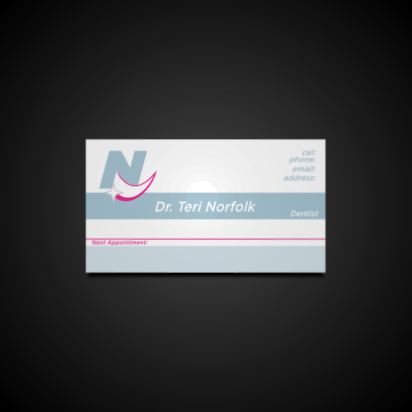 Business Card Design by Private User - Entry No. 7 in the Business Card Design Contest Unique Business Card Design Wanted for Dr. Teri Norfolk Inc..