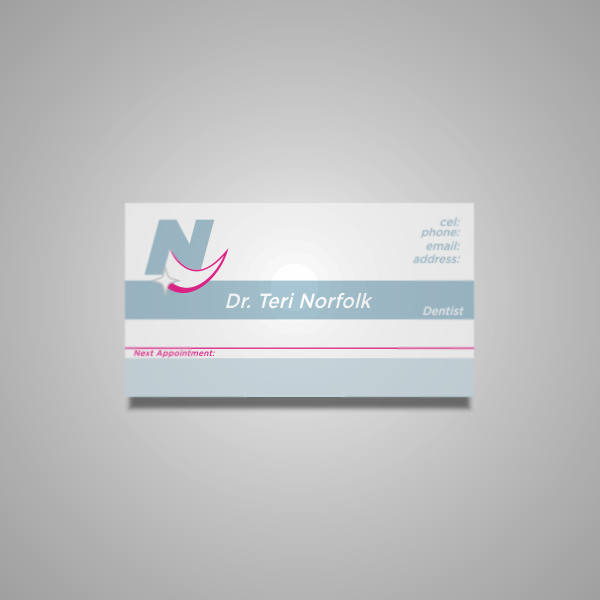 Business Card Design by Private User - Entry No. 8 in the Business Card Design Contest Unique Business Card Design Wanted for Dr. Teri Norfolk Inc..