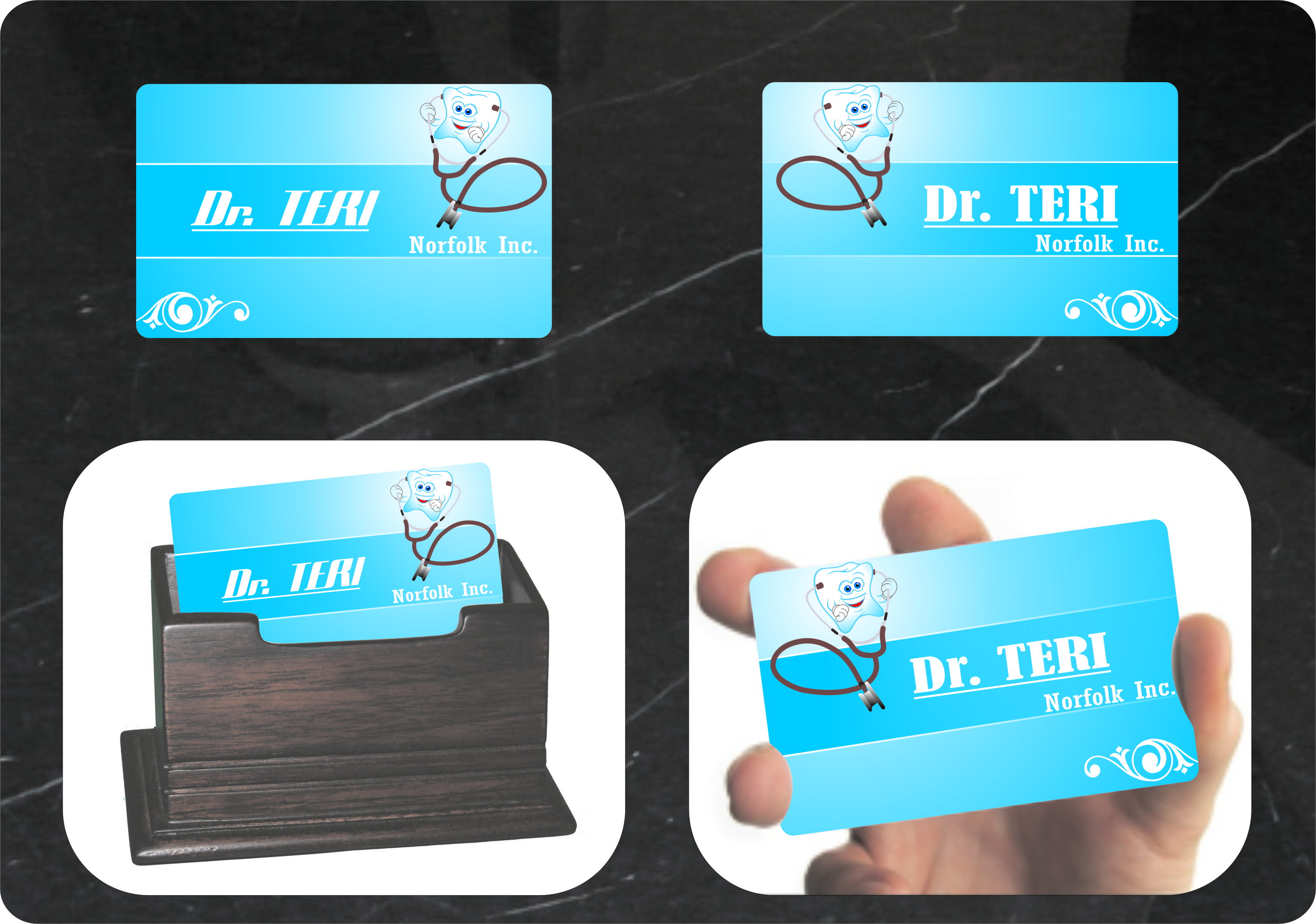 Business Card Design by RasYa Muhammad Athaya - Entry No. 13 in the Business Card Design Contest Unique Business Card Design Wanted for Dr. Teri Norfolk Inc..
