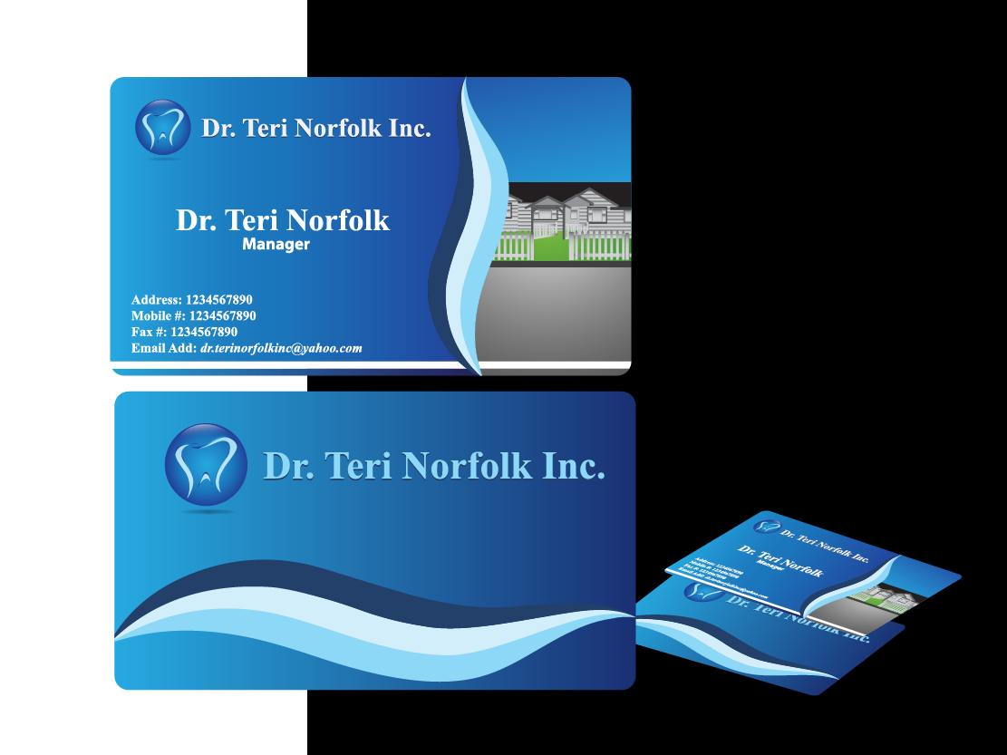 Business Card Design by Private User - Entry No. 17 in the Business Card Design Contest Unique Business Card Design Wanted for Dr. Teri Norfolk Inc..
