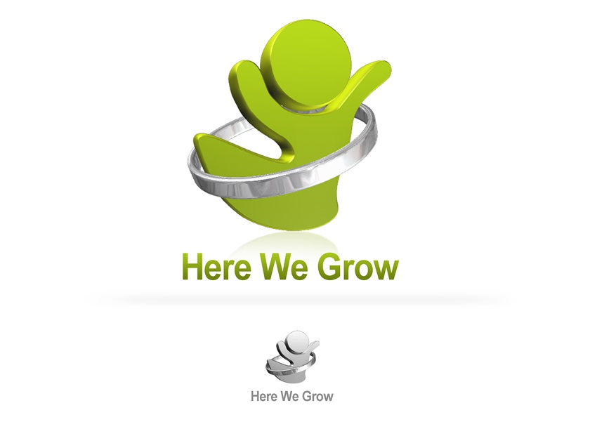Logo Design by Respati Himawan - Entry No. 11 in the Logo Design Contest Here We Grow Logo Design.
