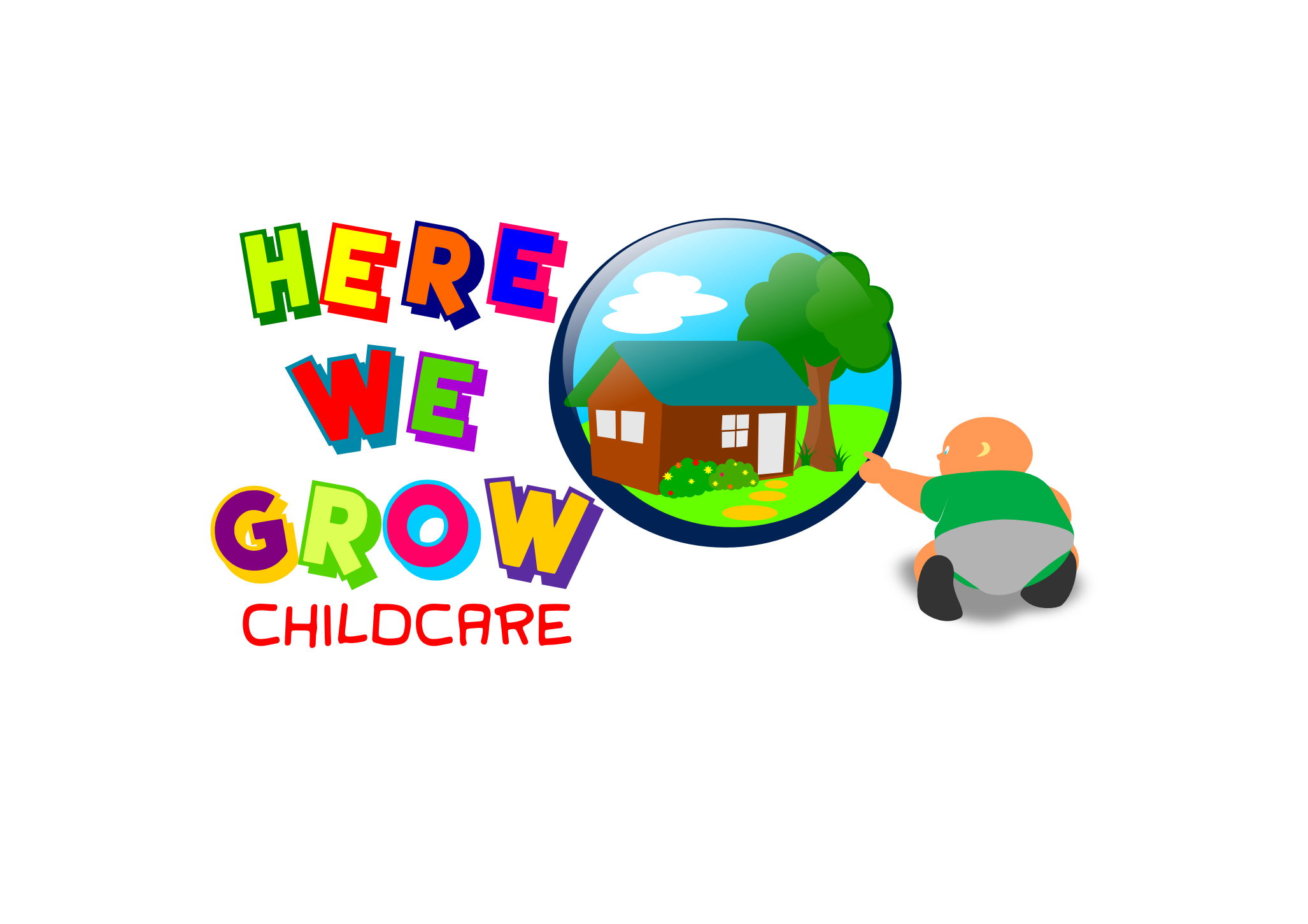 Logo Design by whoosef - Entry No. 24 in the Logo Design Contest Here We Grow Logo Design.
