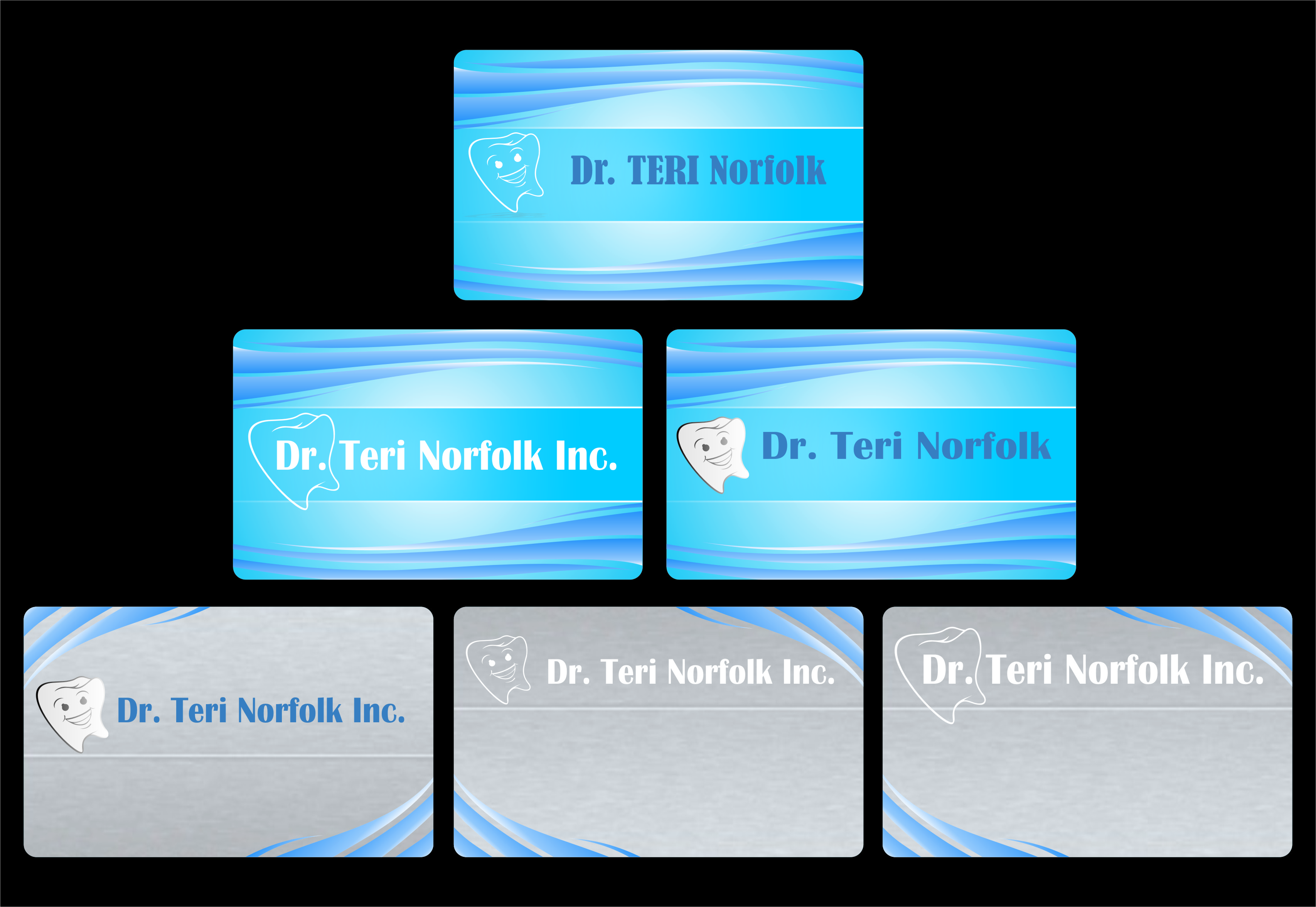 Business Card Design by Ngepet_art - Entry No. 19 in the Business Card Design Contest Unique Business Card Design Wanted for Dr. Teri Norfolk Inc..