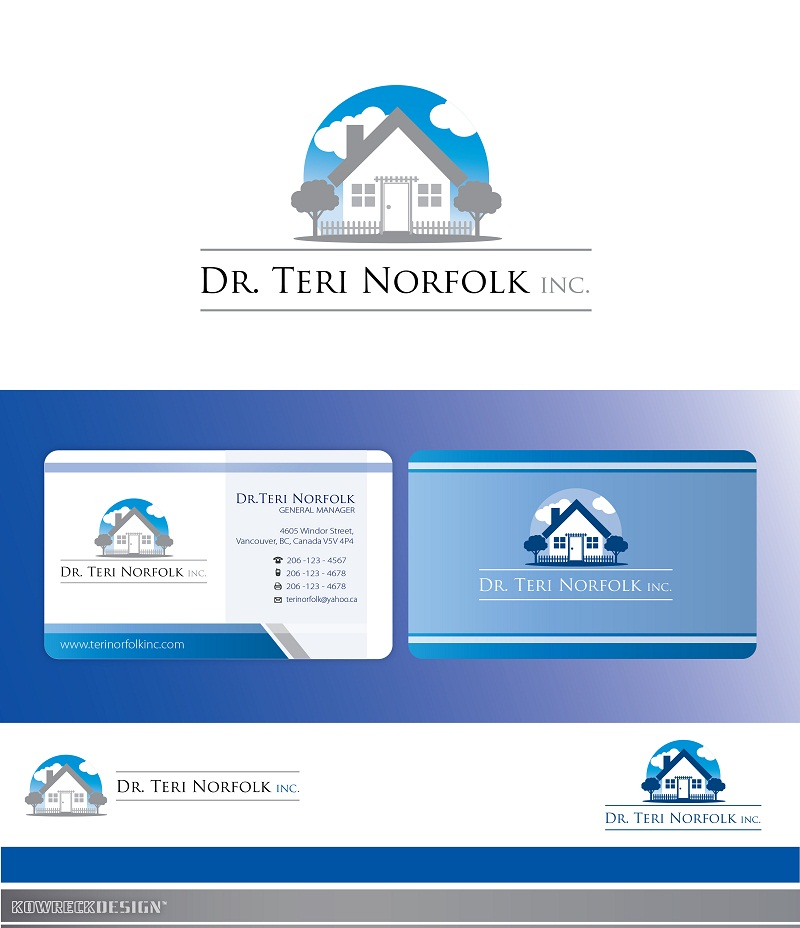 Business Card Design by kowreck - Entry No. 20 in the Business Card Design Contest Unique Business Card Design Wanted for Dr. Teri Norfolk Inc..