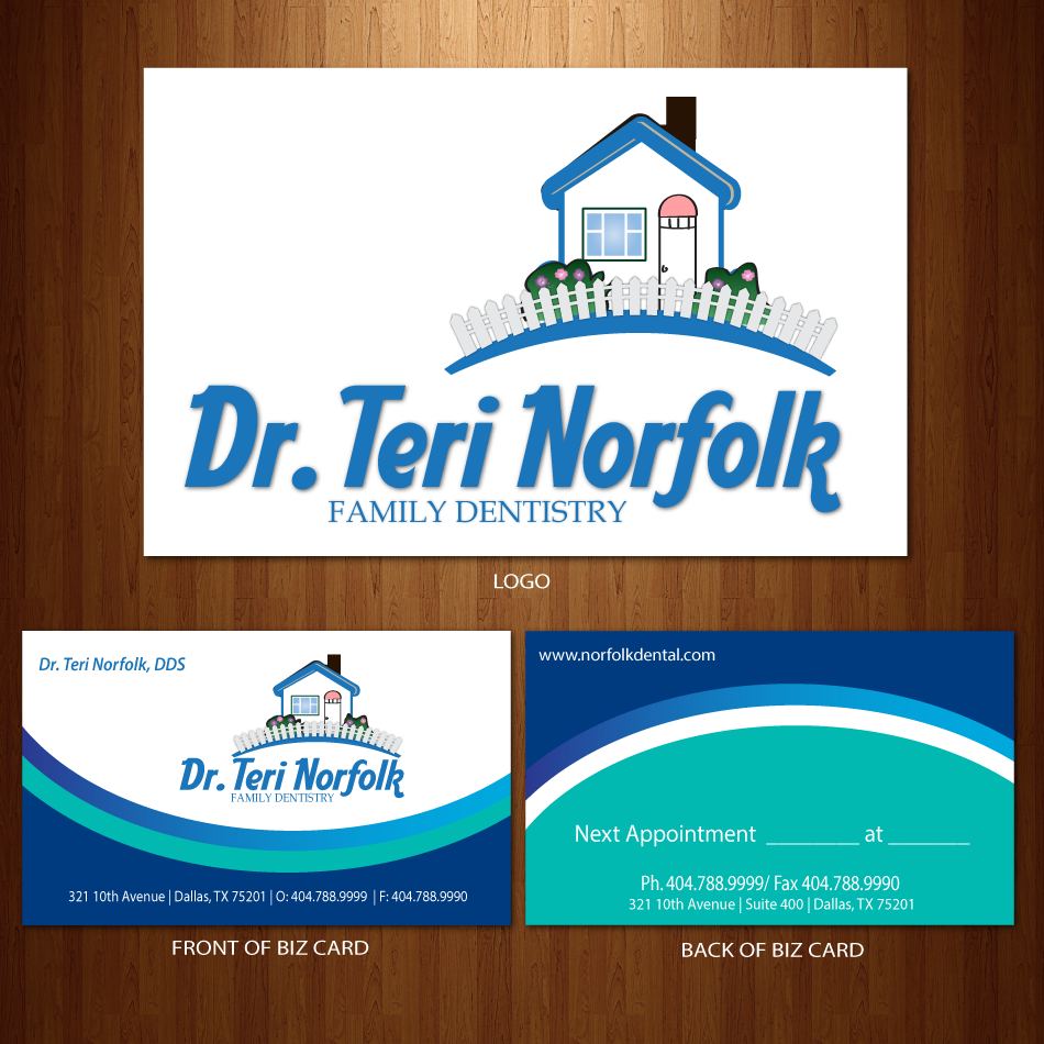 Business Card Design by moonflower - Entry No. 26 in the Business Card Design Contest Unique Business Card Design Wanted for Dr. Teri Norfolk Inc..