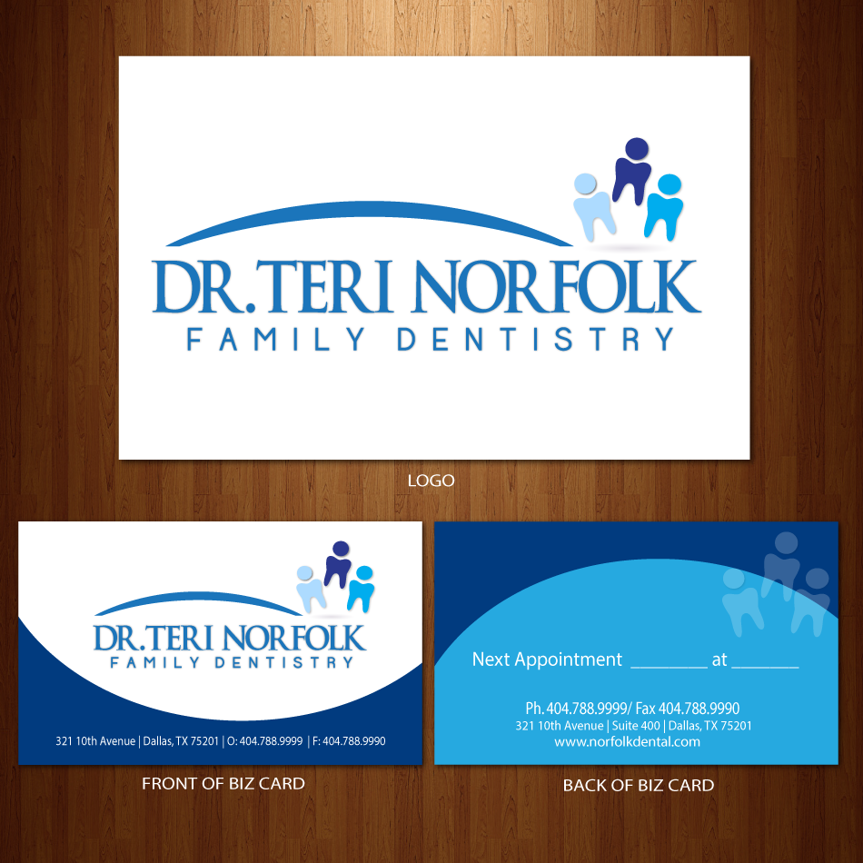 Business Card Design by moonflower - Entry No. 33 in the Business Card Design Contest Unique Business Card Design Wanted for Dr. Teri Norfolk Inc..