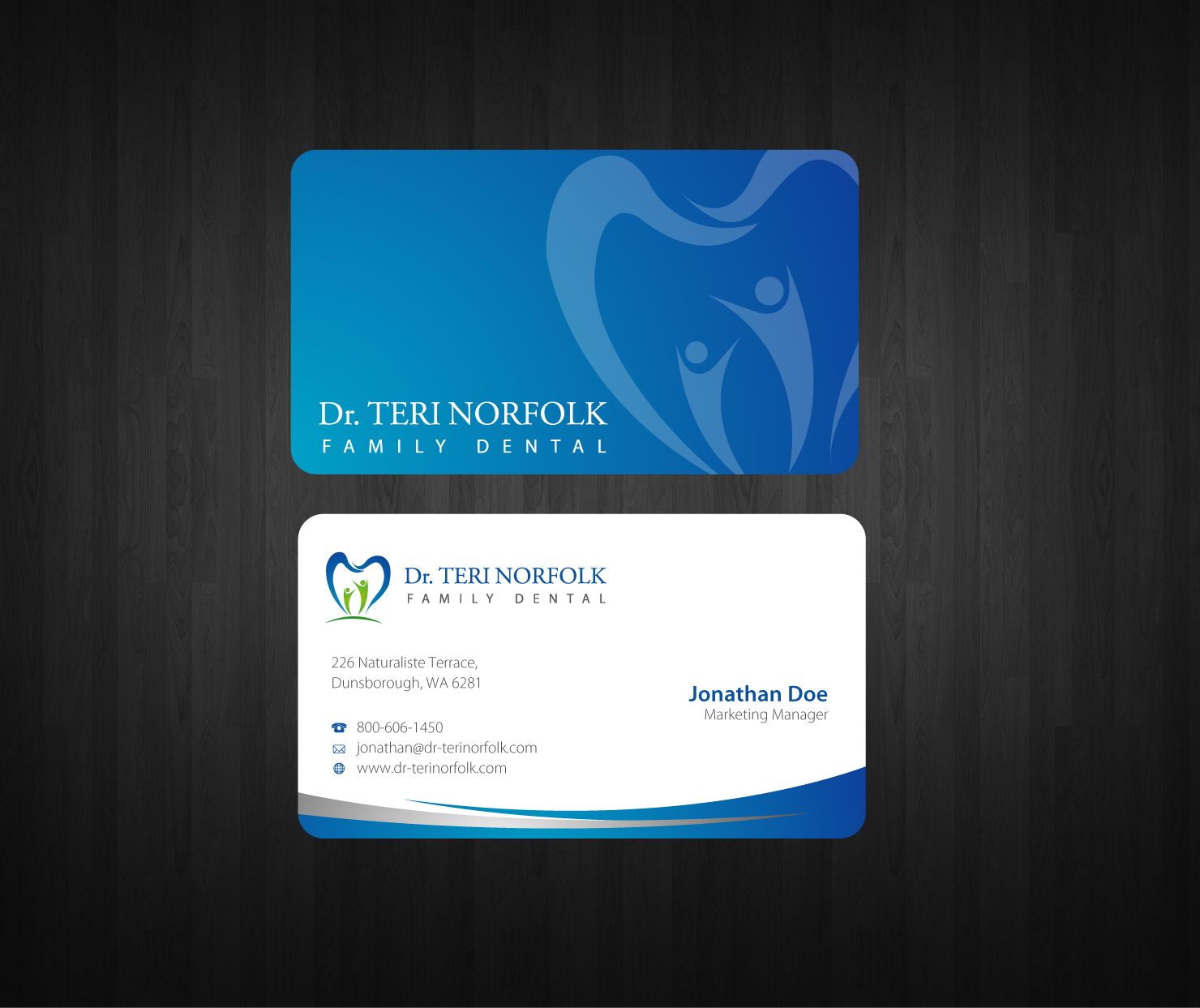 Business Card Design by nila - Entry No. 36 in the Business Card Design Contest Unique Business Card Design Wanted for Dr. Teri Norfolk Inc..