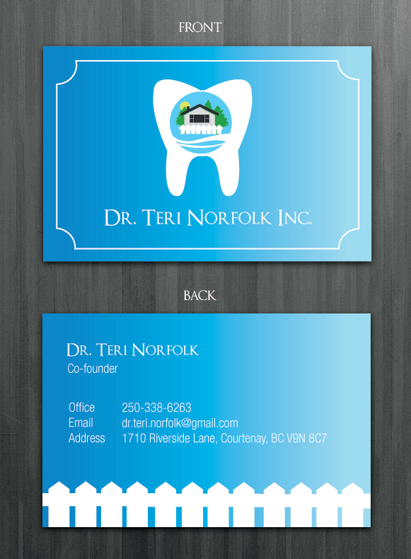 Business Card Design by Naiah Su - Entry No. 42 in the Business Card Design Contest Unique Business Card Design Wanted for Dr. Teri Norfolk Inc..