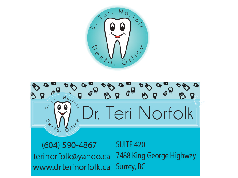 Business Card Design by Mythos Designs - Entry No. 51 in the Business Card Design Contest Unique Business Card Design Wanted for Dr. Teri Norfolk Inc..