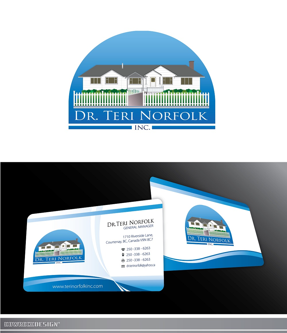 Business Card Design by kowreck - Entry No. 52 in the Business Card Design Contest Unique Business Card Design Wanted for Dr. Teri Norfolk Inc..