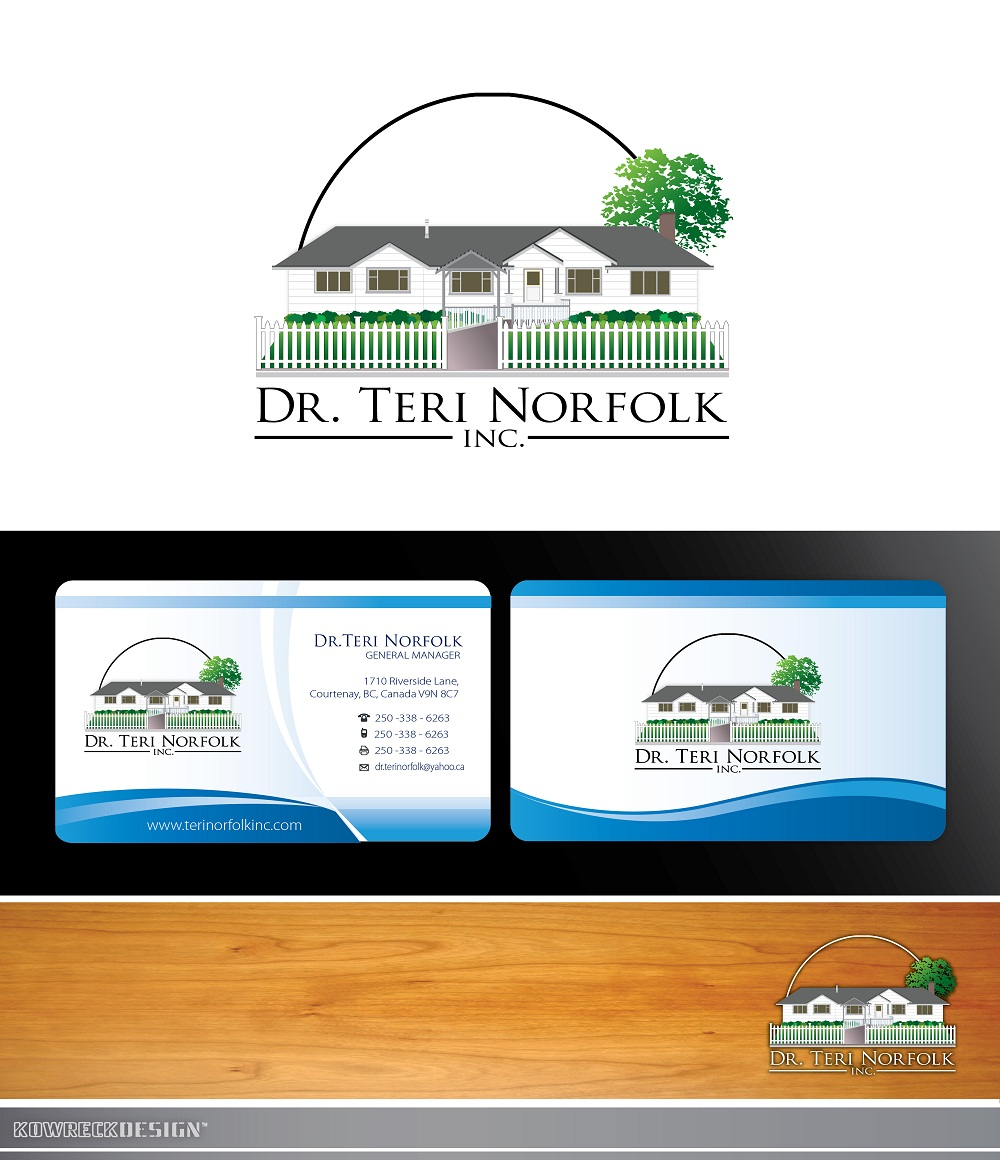 Business Card Design by kowreck - Entry No. 54 in the Business Card Design Contest Unique Business Card Design Wanted for Dr. Teri Norfolk Inc..