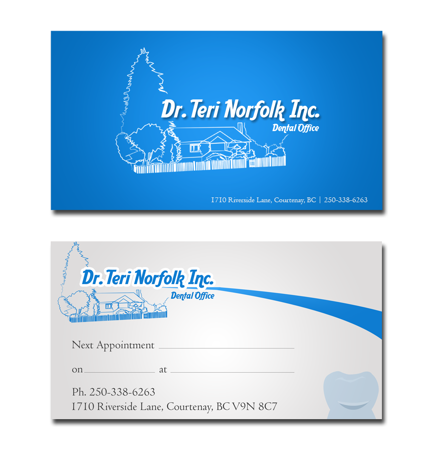Business Card Design by Private User - Entry No. 58 in the Business Card Design Contest Unique Business Card Design Wanted for Dr. Teri Norfolk Inc..