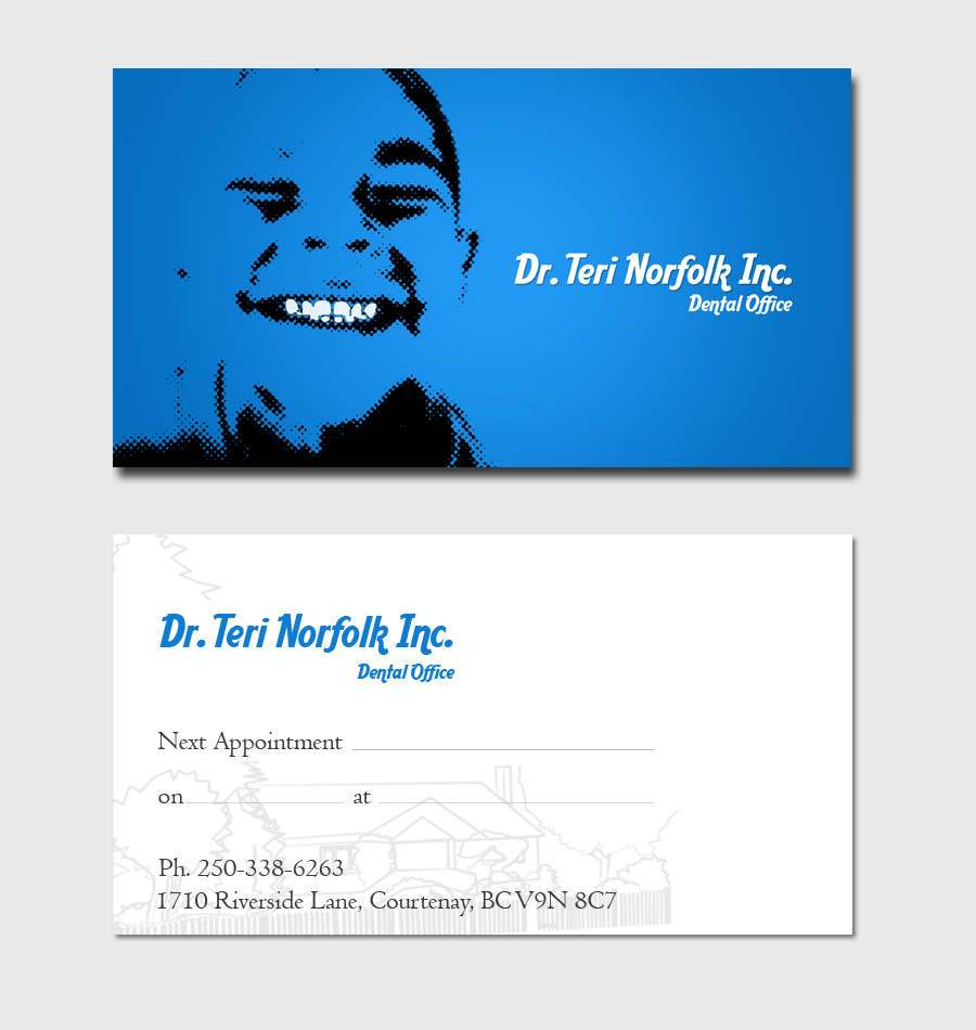 Business Card Design by Private User - Entry No. 60 in the Business Card Design Contest Unique Business Card Design Wanted for Dr. Teri Norfolk Inc..