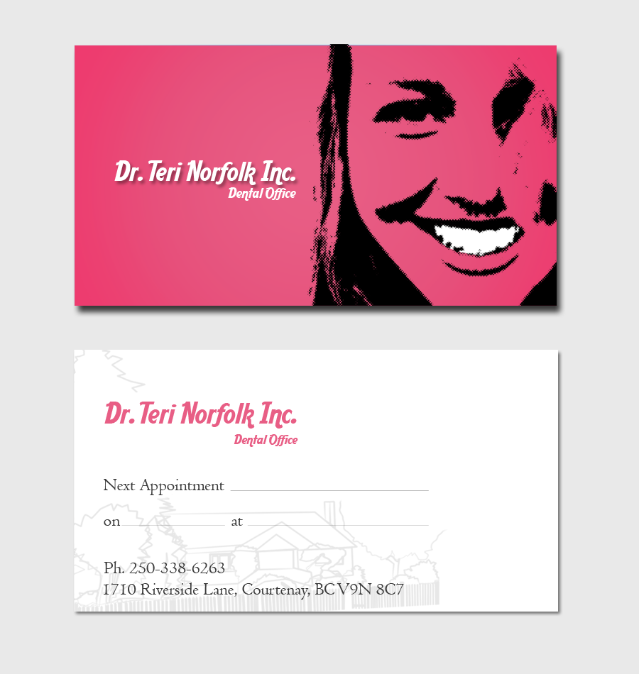 Business Card Design by Private User - Entry No. 61 in the Business Card Design Contest Unique Business Card Design Wanted for Dr. Teri Norfolk Inc..
