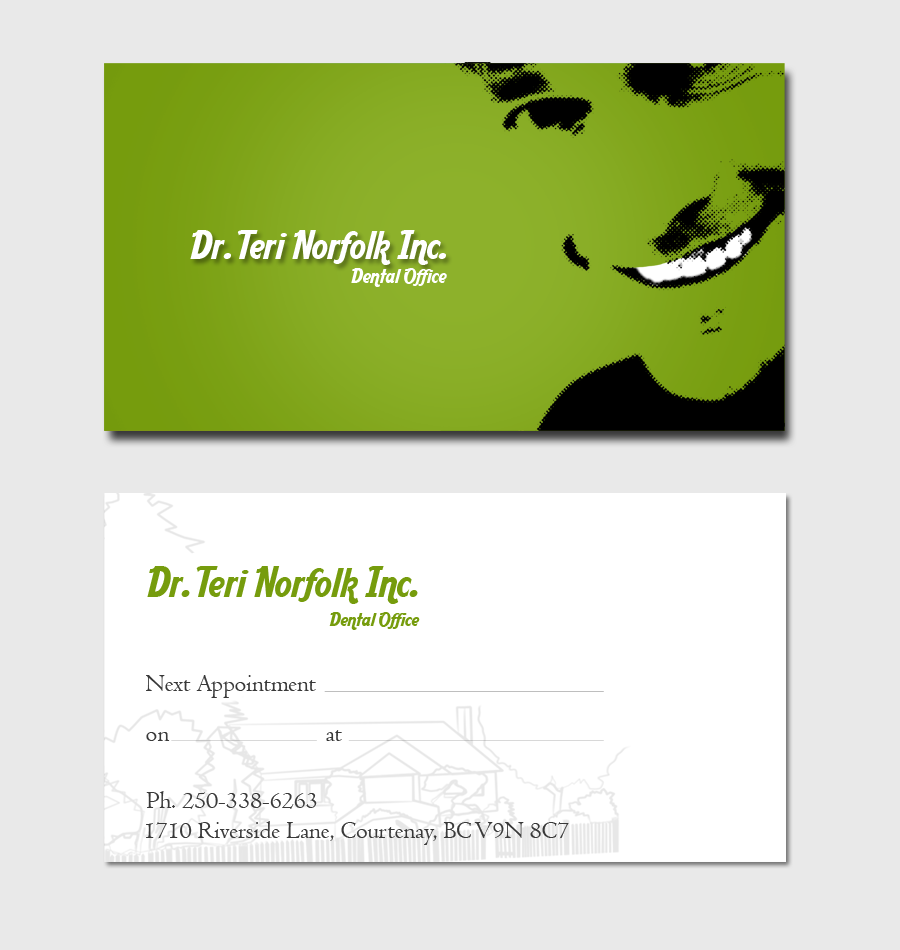 Business Card Design by Private User - Entry No. 62 in the Business Card Design Contest Unique Business Card Design Wanted for Dr. Teri Norfolk Inc..