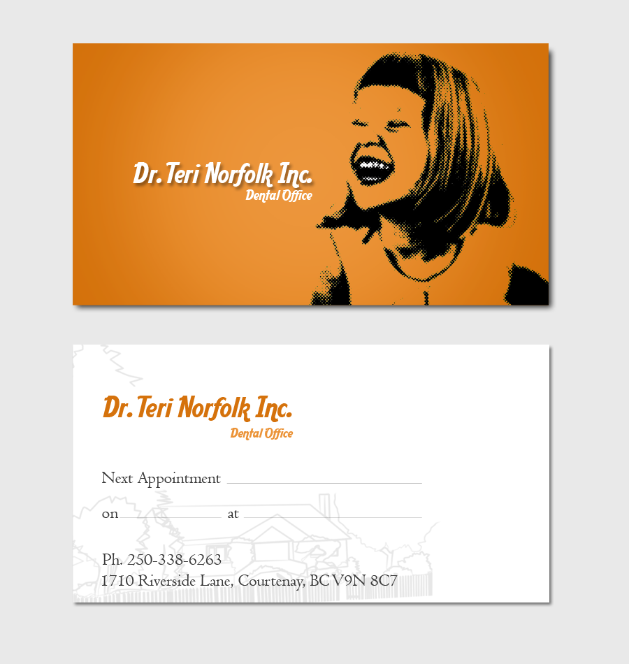 Business Card Design by Private User - Entry No. 63 in the Business Card Design Contest Unique Business Card Design Wanted for Dr. Teri Norfolk Inc..