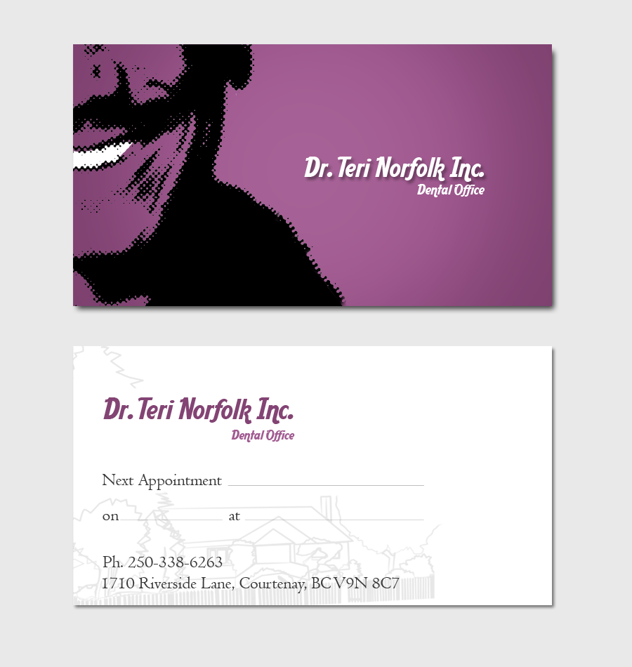 Business Card Design by Private User - Entry No. 64 in the Business Card Design Contest Unique Business Card Design Wanted for Dr. Teri Norfolk Inc..