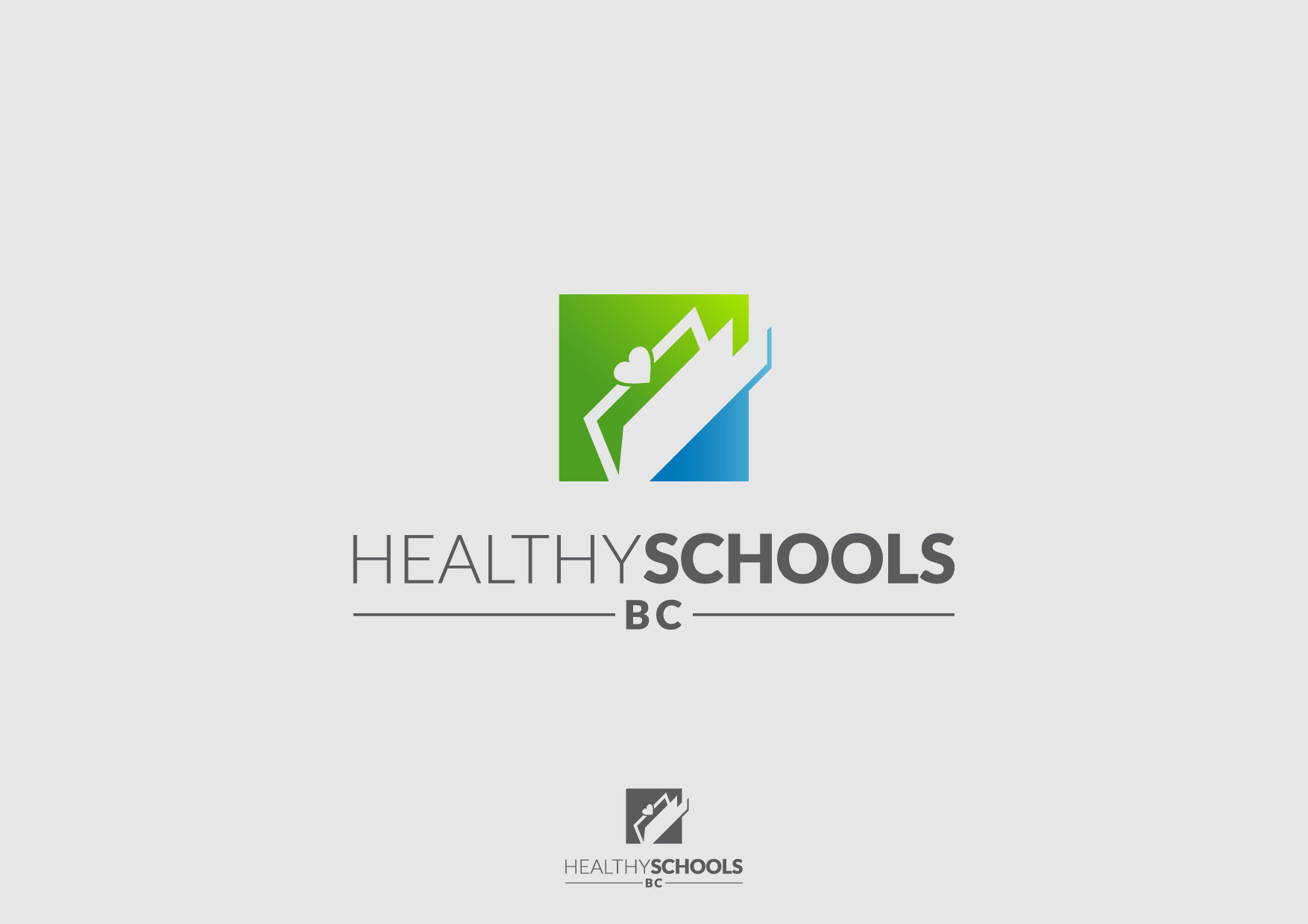 Logo Design by Nurgalih Destianto - Entry No. 77 in the Logo Design Contest SImple, Creative and Clean Logo Design for Healthy Schools British Columbia, Canada.