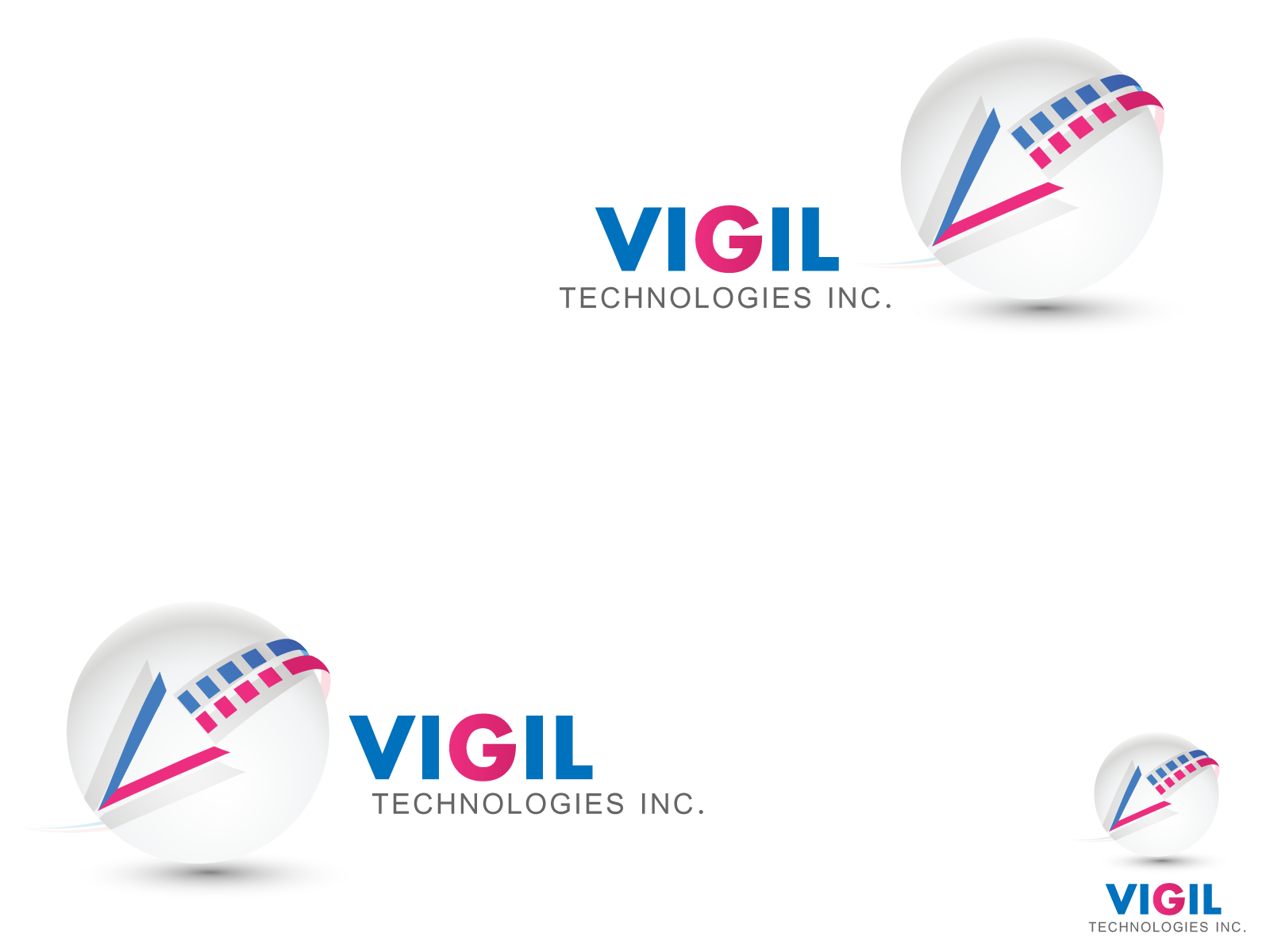 Logo Design by Jagdeep Singh - Entry No. 104 in the Logo Design Contest New Logo Design for Vigil Technologies Inc..