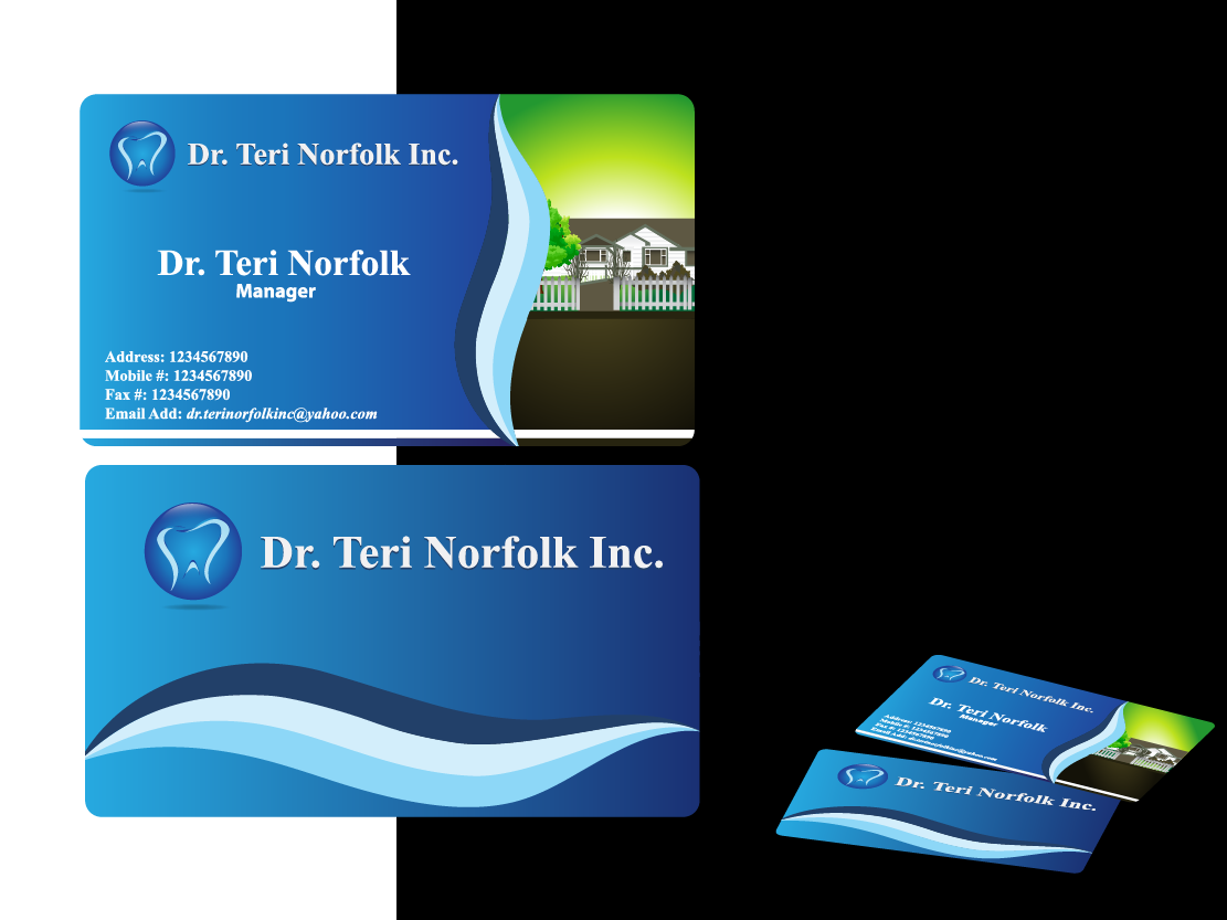 Business Card Design by Private User - Entry No. 66 in the Business Card Design Contest Unique Business Card Design Wanted for Dr. Teri Norfolk Inc..