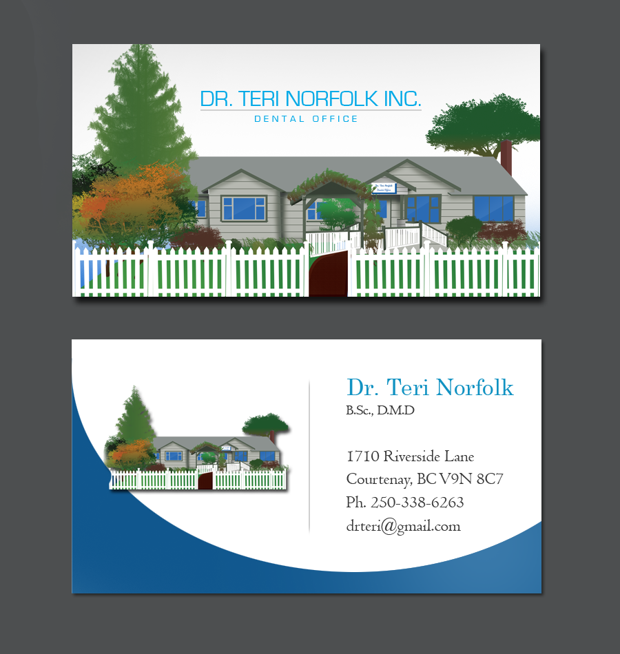 Business Card Design by Private User - Entry No. 68 in the Business Card Design Contest Unique Business Card Design Wanted for Dr. Teri Norfolk Inc..