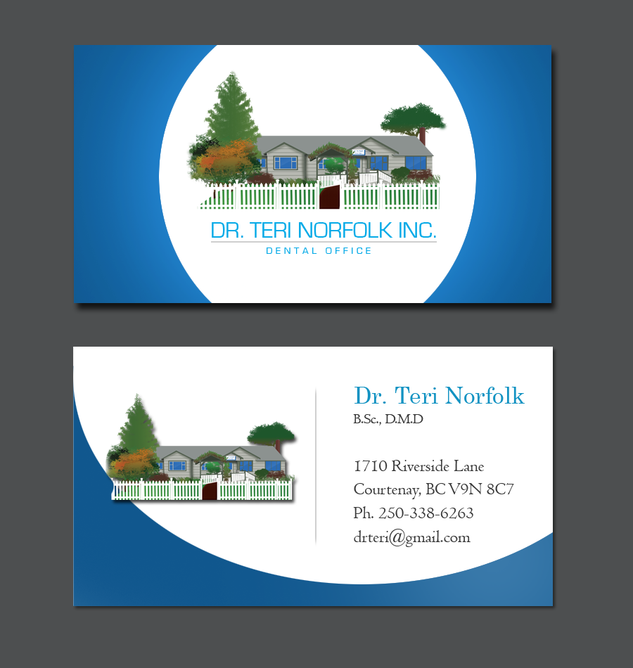 Business Card Design by Private User - Entry No. 69 in the Business Card Design Contest Unique Business Card Design Wanted for Dr. Teri Norfolk Inc..