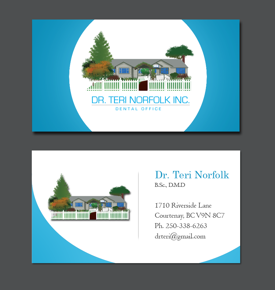 Business Card Design by Private User - Entry No. 70 in the Business Card Design Contest Unique Business Card Design Wanted for Dr. Teri Norfolk Inc..