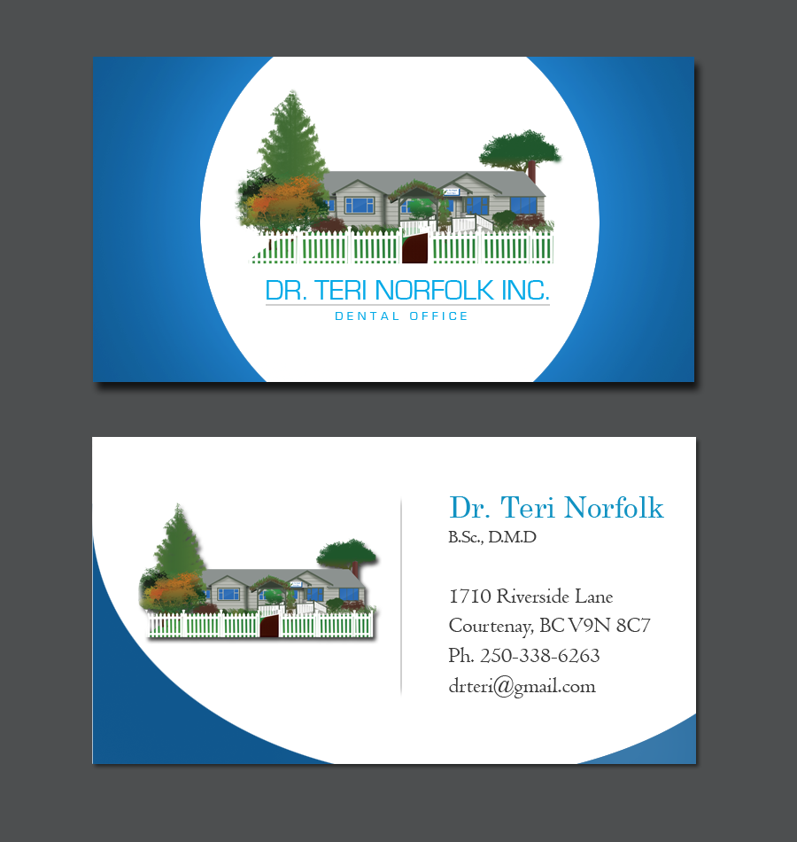 Business Card Design by Private User - Entry No. 71 in the Business Card Design Contest Unique Business Card Design Wanted for Dr. Teri Norfolk Inc..