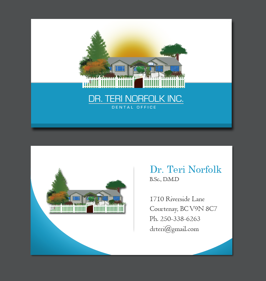Business Card Design by Private User - Entry No. 73 in the Business Card Design Contest Unique Business Card Design Wanted for Dr. Teri Norfolk Inc..