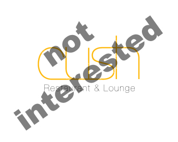 Logo Design by Bergur Finnbogason - Entry No. 48 in the Logo Design Contest Cush Restaurant & Lounge Ltd..