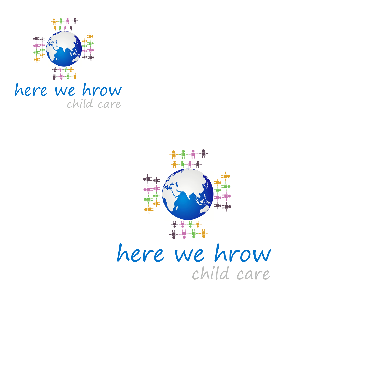 Logo Design by Qazi Usman - Entry No. 91 in the Logo Design Contest Here We Grow Logo Design.