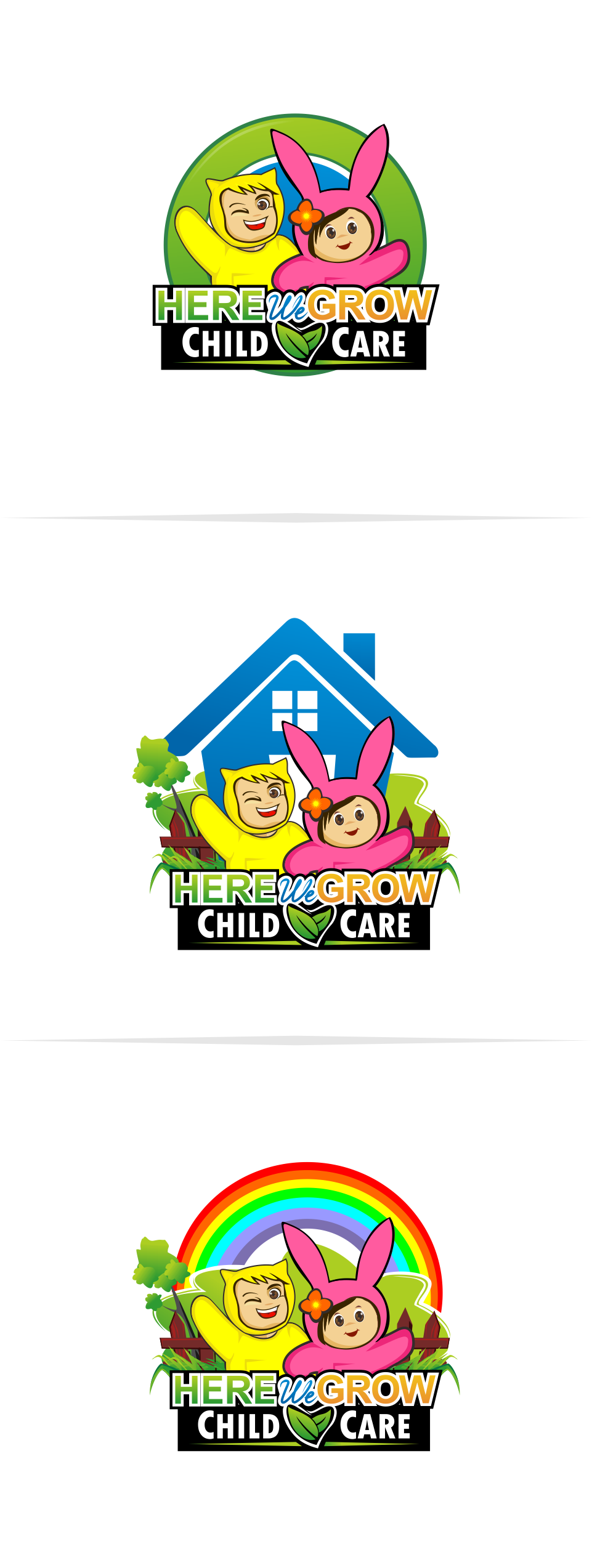 Logo Design by Mitchnick Sunardi - Entry No. 92 in the Logo Design Contest Here We Grow Logo Design.